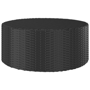 vidaXL Čajni stolić crni 68 x 68 x 30 cm od poliratana