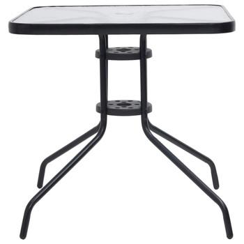 vidaXL Vrtni stol crni 70 x 70 x 70 cm čelični