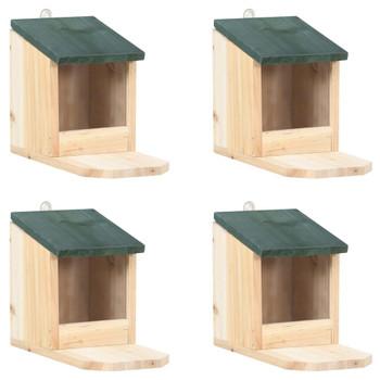 vidaXL Kućice za vjeverice 4 kom od jelovine