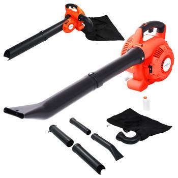 vidaXL Benzinski puhač za lišće 3-u-1 26 cm³ narančasti