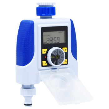 vidaXL Električni tajmer za vodu s dva ispusta i senzorom za kišu
