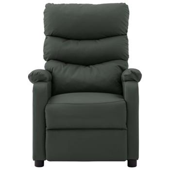 vidaXL Električna masažna fotelja od umjetne kože siva