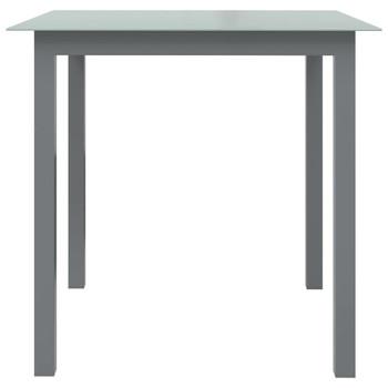 vidaXL Vrtni stol svjetlosivi 80 x 80 x 74 cm od aluminija i stakla