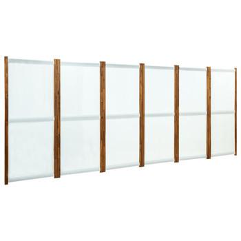 vidaXL Sobna pregrada sa 6 panela krem bijela 420 x 170 cm