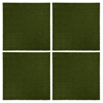 vidaXL Pločice s umjetnom travom 4 kom 50 x 50 x 2,5 cm gumene