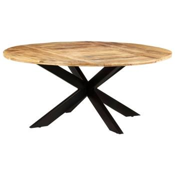 vidaXL Blagovaonski stol okrugli 175 x 75 cm od grubog drva manga