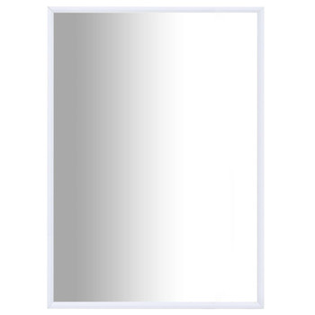 vidaXL Ogledalo bijelo 70 x 50 cm