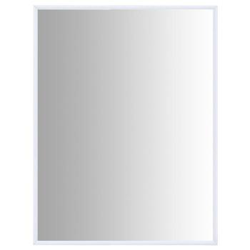 vidaXL Ogledalo bijelo 80 x 60 cm