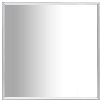 vidaXL Ogledalo srebrno 50 x 50 cm