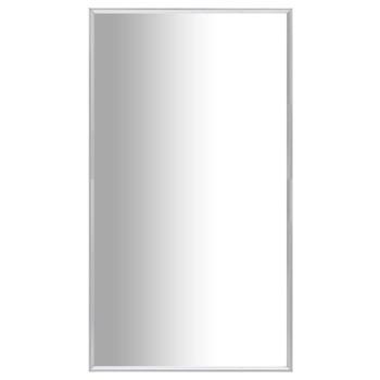 vidaXL Ogledalo srebrno 80 x 60 cm