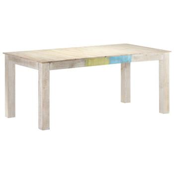 vidaXL Blagovaonski stol bijeli 180x90x76 cm od masivnog drva manga