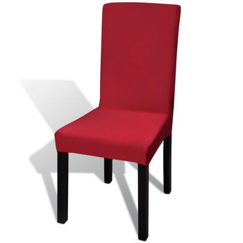 vidaXL Rastezljive navlake za stolice 4 kom Bordo