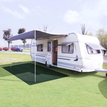 vidaXL Tepih za šator 250 x 500 cm HDPE zeleni