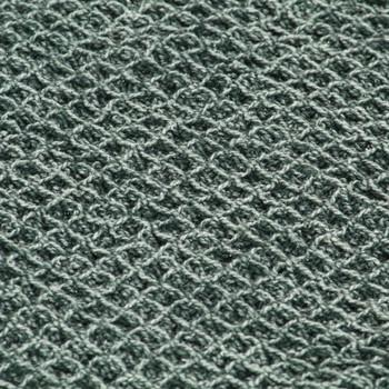 vidaXL Pamučni pokrivač 160 x 210 cm tamnozeleni