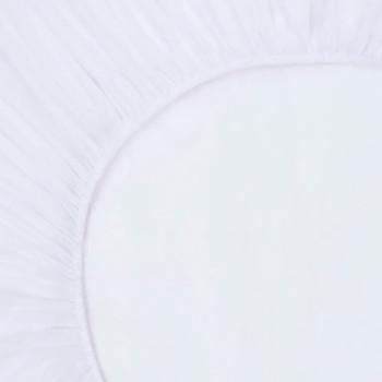 vidaXL Plahte s gumicom vodootporne 2 kom pamučne 100 x 200 cm bijele