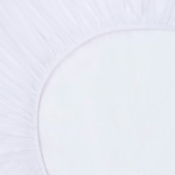 vidaXL Plahte s gumicom vodootporne 2 kom pamučne 180 x 200 cm bijele