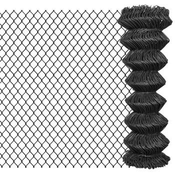 vidaXL Žičana ograda 25 x 1,25 m čelična siva