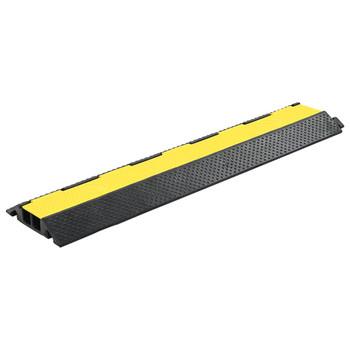 vidaXL Podna zaštita za kabele most s 2 kanala od gume 101,5 cm