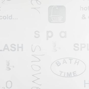 vidaXL Rolo zastor za tuš 80 x 240 cm s raznim natpisima