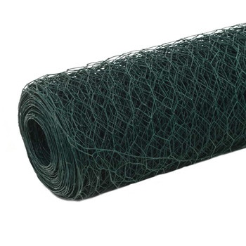 vidaXL Žičana mreža od čelika s PVC oblogom za kokoši 25 x 1,2 m zelena