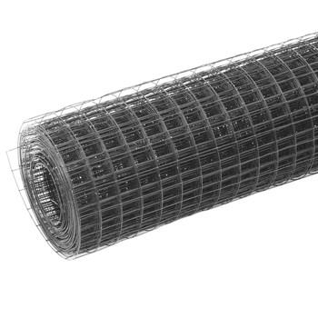 vidaXL Žičana mreža od čelika s PVC oblogom za kokoši 25 x 0,5 m zelena