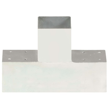 vidaXL Spojnik za stupove u T-obliku od pocinčanog metala 91 x 91 mm