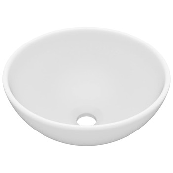 vidaXL Luksuzni okrugli umivaonik mat bijeli 32,5 x 14 cm keramički