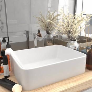 vidaXL Luksuzni umivaonik mat bijeli 41 x 30 x 12 cm keramički