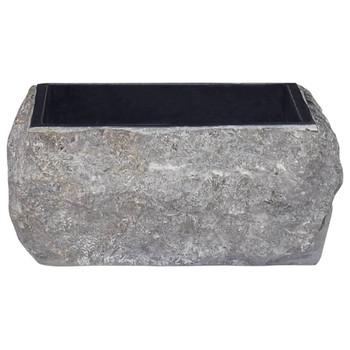 vidaXL Umivaonik crni 30 x 30 x 13 cm mramorni