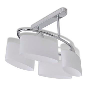 Stropna lampa staklenim abažurima u obliku elipsoida 4 E14 žarulje