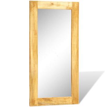 Pravokutno zidno ogledalo s okvirom od masivnog drveta 120 x 60 cm