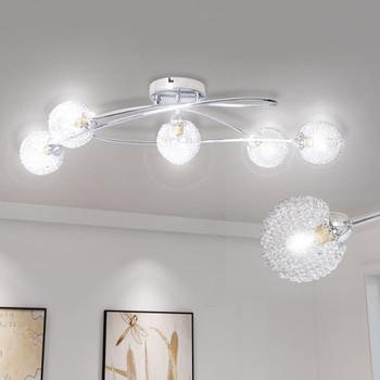 Stropna svjetiljka s lusterima od žice, 5 G9 žarulja
