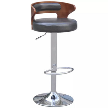 vidaXL Barske Stolice 2 kom Savijeno Drvo i Umjetna Koža Crne