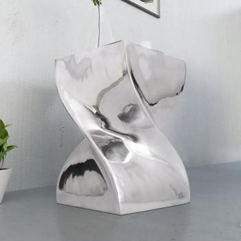 vidaXL Stol/ Stolić Zavijenog Oblika Aluminijum boja srebra