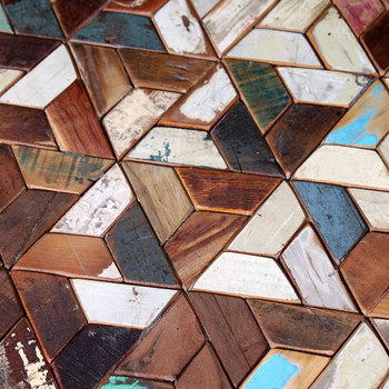 vidaXL Set Stolića za Kavu od Masivnog Obnovljenog Drveta Tri Komada