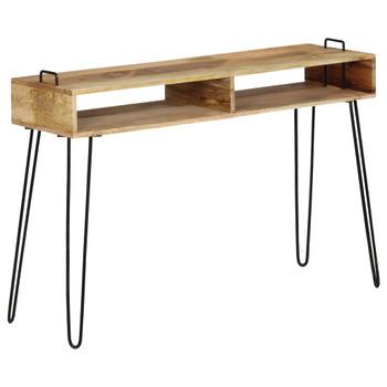 vidaXL Konzolni stol od masivnog drva manga 115 x 35 x 76 cm