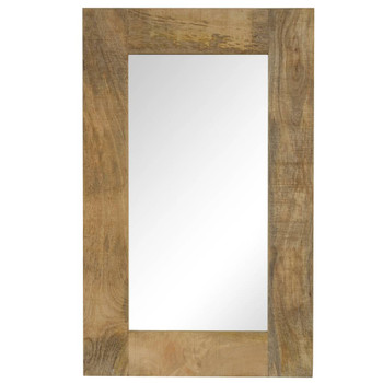 vidaXL Ogledalo od masivnog drva manga 50 x 80 cm