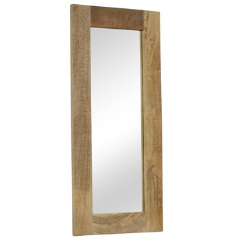 vidaXL Ogledalo od masivnog drva manga 50 x 110 cm