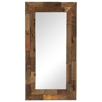 vidaXL Ogledalo od masivnog obnovljenog drva 50 x 110 cm