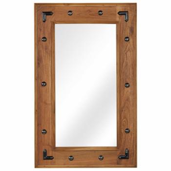 vidaXL Ogledalo od masivnog bagremovog drva 50 x 80 cm