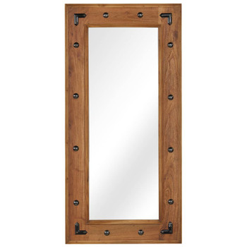 vidaXL Ogledalo od masivnog bagremovog drva 50 x 110 cm