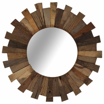vidaXL Zidno ogledalo od masivnog obnovljenog drva 50 cm