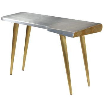 vidaXL Pisaći stol starinski u avijatičarskom stilu 120 x 60 x 76 cm