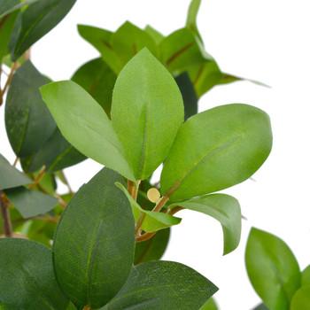 vidaXL Umjetno stablo lovora s posudom zeleno 90 cm