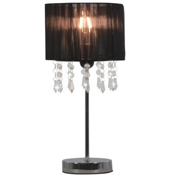 vidaXL Stolna svjetiljka crna okrugla E27