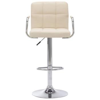 vidaXL Barska stolica od tkanine krem