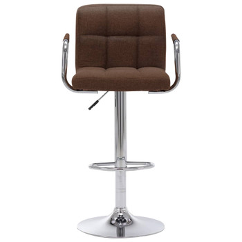 vidaXL Barska stolica od tkanine smeđa