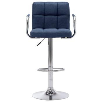 vidaXL Barska stolica od tkanine plava