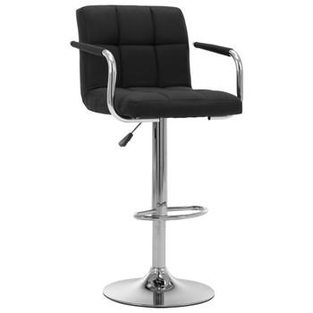 vidaXL Barska stolica od tkanine crna