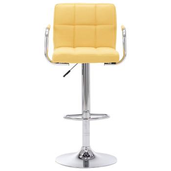 vidaXL Barska stolica od tkanine žuta